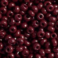 Бисер №93310, №10, Preciosa (Чехия), бордовый натуральный, непрозрачный