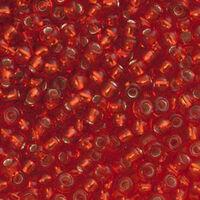 Бисер №97050 matt, №10, Preciosa (Чехия), алый блестящий матовый, прозрачный