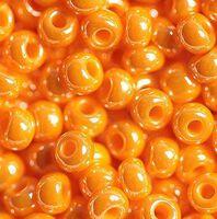 Бисер №98110, №10, Preciosa (Чехия), светло-оранжевый, непрозрачный