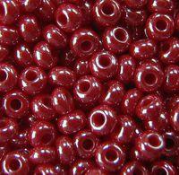 Бисер №98210, №10, Preciosa (Чехия),бордовый перламутровый, непрозрачный