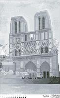 Величественный Собор Франции, Париж Собор Парижской Богоматери, ТМ-016 схема для вышивки бисером на атласе