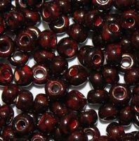 Бисер № 99190,№9, Preciosa(Чехия), травертин коричнево-красный, непрозрачный