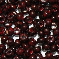Бисер № 99190,№10, Preciosa(Чехия), травертин коричнево-красный, непрозрачный