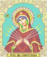 А4-048 Семистрельная Божия Матерь схема вышивки бисером