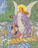 Ангел Хранитель БСР 4006 схема с рисунком для полной вышивки бисером №10 на габардине