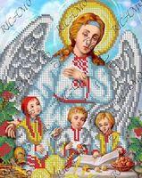 Ангел хранитель БКР-4340 схема с рисунком для полной вышивки бисером №10 на габардине