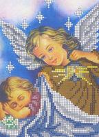 Ангел хранитель, СД-042 схема-рисунок на атласе для частичного вышивания бисером