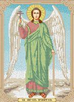 Ангел Хранитель А3-029 схема с рисунком на габардине для полной вышивки бисером