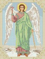 Ангел Хранитель А4-026 схема с рисунком на габардине для полной вышивки бисером