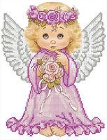 Ангелочек схема для вышивки бисером А4 - 052