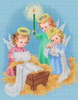 Ангельские сны  схема для вышивки бисером на атласе формат А-4 ЮМА 470
