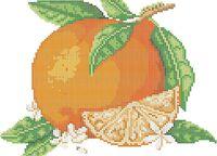 Апельсин схема для вышивки бисером на ткани А4-0176