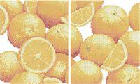 Апельсины схема для вышивки бисером на ткани А3-0431(диптих)