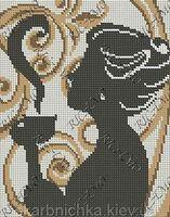 Аромат кофе БК-4198 схема с рисунком на габардине для полного вышивания бисером