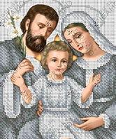 Святое Семейство схема для полной вышивки бисером А4-4444
