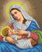 Божия Матерь Млекопитательница БКР-4356 схема для вышивки бисером на ткани