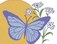 Бабочка схема для вышивки бисером на ткани А4-0148