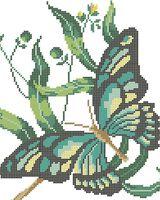 Бабочка схема для вышивки бисером на ткани А4-0150