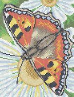 Бабочка схема для вышивки бисером на ткани А4-0157