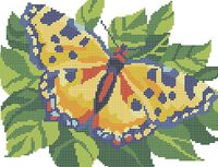 Бабочка схема для вышивки бисером А4-0168