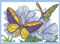 Бабочки схема для вышивки бисером на ткани А4-0158