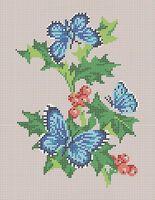 Бабочки схема для вышивки бисером на ткани А4-0159