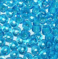 Бисер №61015, №10, Preciosa (Чехия), двухцветный, лазурно-голубой с внутренним прокрасом, прозрачный
