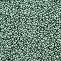 Бисер №63021, №10, Preciosa (Чехия), серо-зеленый, люксовый , непрозрачный