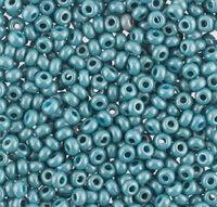 Бисер №63025, №10, Preciosa (Чехия), серо-бирюзовый, перламутровый, непрозрачный
