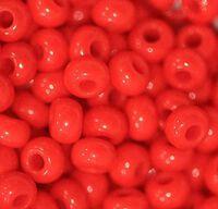 Бисер №93170, №10, Preciosa (Чехия), красный яркий натуральный, непрозрачный