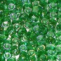 Бисер №51100, №10, Preciosa (Чехия),светло-зелёный радужный, прозрачный