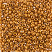 Бисер №83119, №10, Preciosa (Чехия), коричнево-золотой глянцевый, непрозрачный