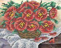 Маки в корзине БК-5143 схема вышивки бисером