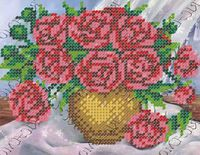Розы бисер заготовка вышивки БК-5144