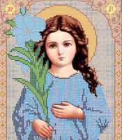 Богородица Трилетствующая схема для вышивки бисером VIA 4011