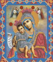 Божия Матерь  Достойно есть БА4-008 схема вышивки бисером