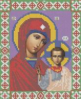 Божия Матерь Казанская схема для вышивки бисером БА4-001