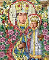 Божия Матерь Неувядаемый Цвет БКР 4339 схема с рисунком для полной вышивки бисером №10 на габардине