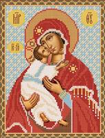 Божия Матерь Владимирская схема для вышивки бисером РИП-004