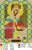 Святая царица Елена схема для вышивки бисером А7