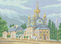 Церковь схема для вышивки бисером на ткани А3-0272