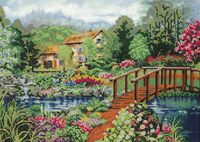 Цветочный рай, DANA-3118 схема для вышивки бисером на габардине