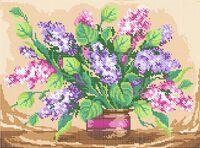 Цветы Сирень СВ-3056 схема для вышивки бисером на габардине