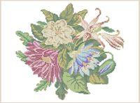 Цветы схема для вышивки бисером на ткани А3-0370