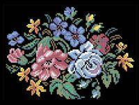 Цветы схема для вышивки бисером на ткани А4-0200