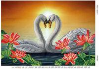 Лебеди - Любовь в верности -DANA-363 схема для вышивки бисером на ткани