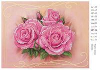 Нежные розы, схема для вышивки бисером на ткани DANA-381