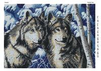 Волчья верность заготовка вышивки бисером А3-396