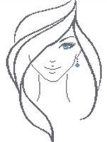 Девушка с голубыми глазами А3-0422 cхема для вышивки бисером