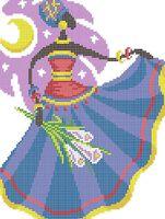 Дочь неба схема для вышивки бисером на ткани А4-0221